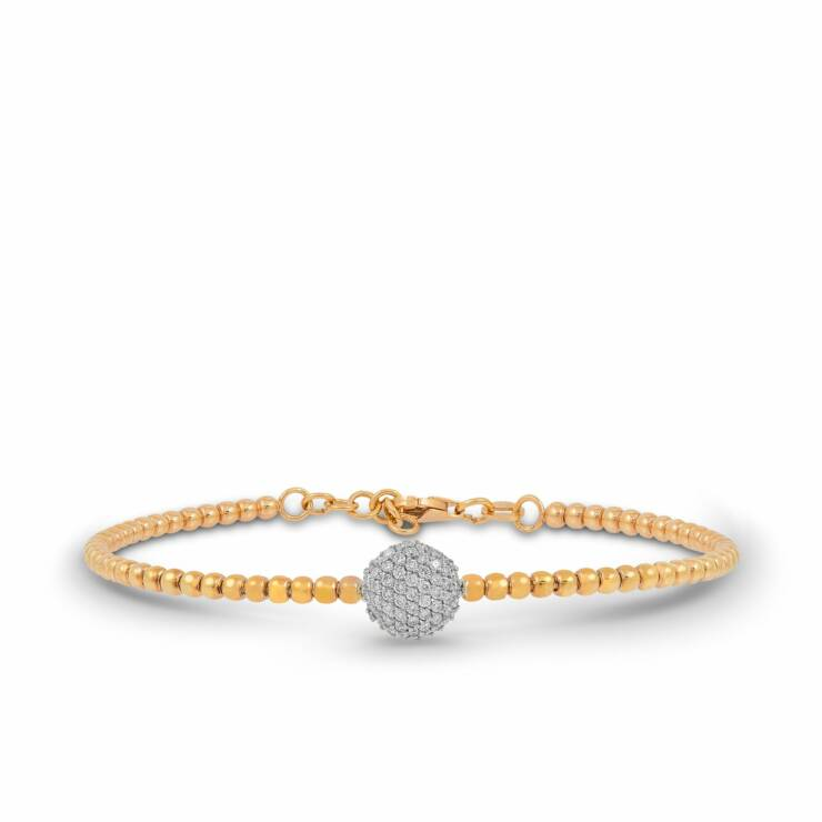 Rose and White Gold Bracelet